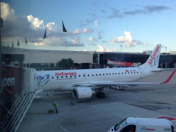 Gracias @AirEuropa un magnífico vuelo es la mejor forma de empezar #MallorcaFeelings http://t.co/WO9725Ir2G