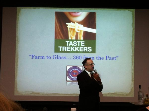 "Frank Martucci from Twin River Casino presenting ""Farm to Glass.""  #2014TTExpo industry day. @thefranklife http://t.co/3dSwH3zh8R"