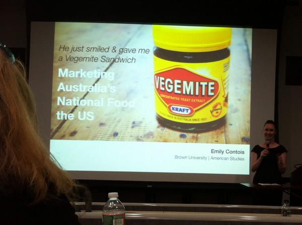 "Emily Contois presenting Vegemite and ""Marketing Australia's National Foods in the US."" #2014ttexpo @EmilyContois http://t.co/bb0pNnRJ93"