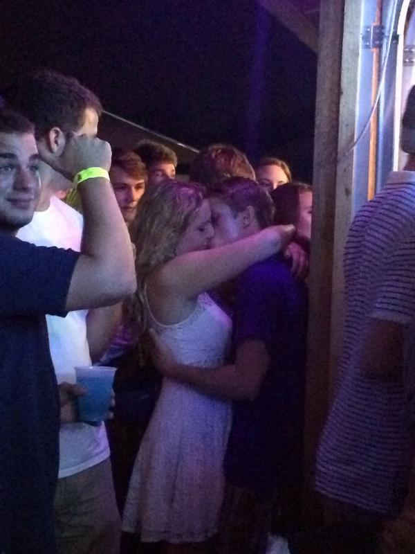 Drunk makeouts