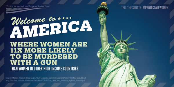 The U.S. should enact policies that block domestic abusers from buying and possessing guns to #ProtectAllWomen. http://t.co/fEf9HKuWvK