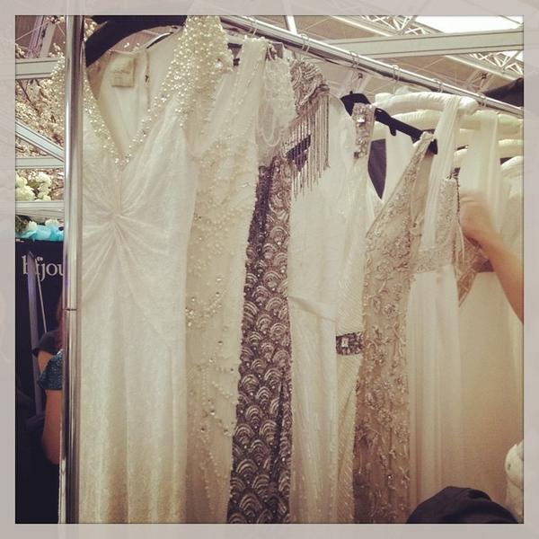 Beautiful @ejhbridal dresses just screaming to be tried on ❤️ #bijoubride @bridestheshow #M53 http://t.co/BQyVP5Rf61