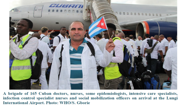 RESPECT: 156 Cuban doctors & nurses landed 2 Oct in Sierra Leone to help stop Ebola! Cubans were faster than US army http://t.co/dPmYHJSooP