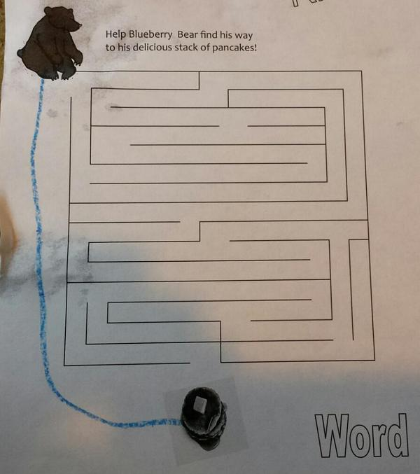 I had Ethan solve this maze, I can't really argue with his solution. http://t.co/3MDcTS4mK1