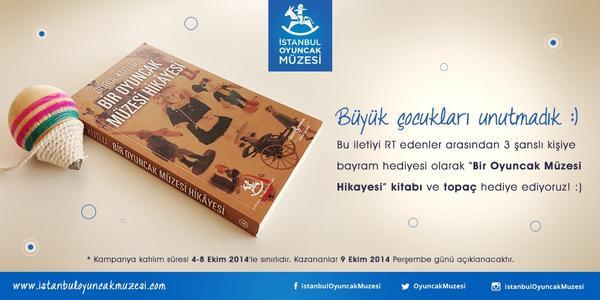Büyük çocukları unutmadık :) Bu iletiyi RT edenler arasından 3 şanslı kişiye kitap ve topaç hediye ediyoruz! http://t.co/cMBk3wQnFw