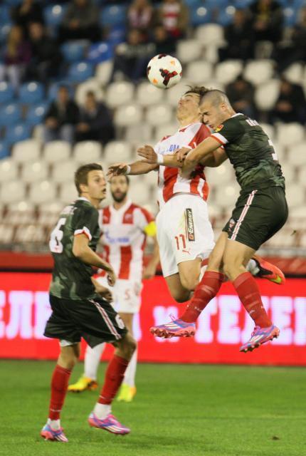 Kitanovski is involved in jumping duel with Crvena Zvezda player