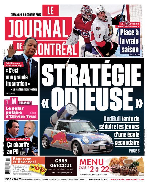 journal de Montréal 5oct14