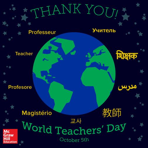 10/5 | Happy #WorldTeachersDay in whichever language you celebrate it in! #ThankATeacher #EdChat #PTchat @Unesco http://t.co/yXRfhP6HzA