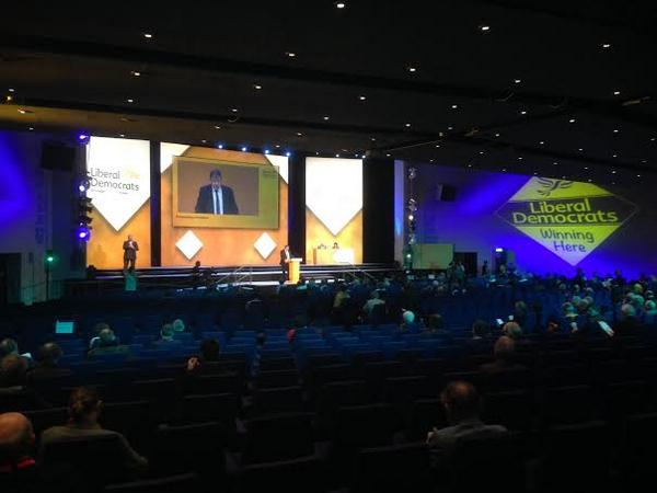 2 weeks after #indyref, the Secretary of State for Scotland gives his party conference speech to an almost empty room http://t.co/s7WyFhLvnl