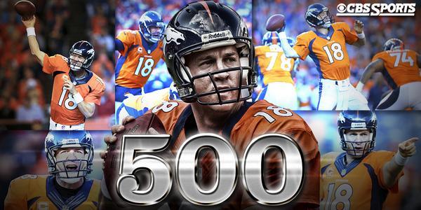 500 Career TDs  Peyton Manning keeps adding milestones to his résumé.