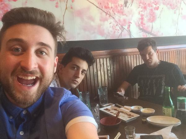 #dillons19thbirthday  is starting with discount sushi! He's having the best time!! @DILLONFRANCIS @Vinnie_Phantoms http://t.co/I9NTy1Fmna