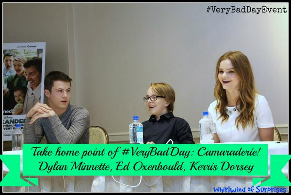 #VeryBadDayEvent interviews with cast Ed Oxenbould, Dylan Minnette, and Kerris Dorsey