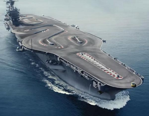 BMW ad using a Nimitz-class American aircraft carrier as a recetrack, what a great  idea!  http://t.co/FTgzk6SPKO http://t.co/pe7N9NT0rc