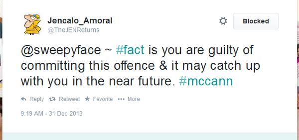 Thumbnail for Sweepyface 'suicide' won't silence McCann Shills