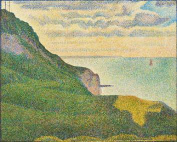 Is this work is out of character for Seurat? Compare Side Show to this seascape from @ngadc #BreakForArt http://t.co/m1x5009k03