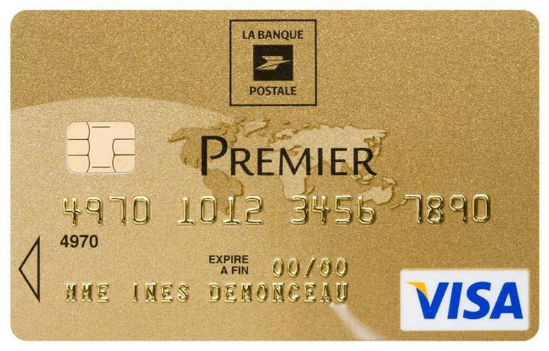 carte visa banque postale