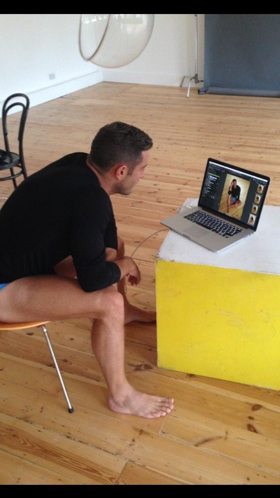RT @The_CAN_Group: Our lovely, @elliottwright_ having a look through some of today's calendar shoot pics! #sneakpeak http://t.co/TaGvhKJwHK