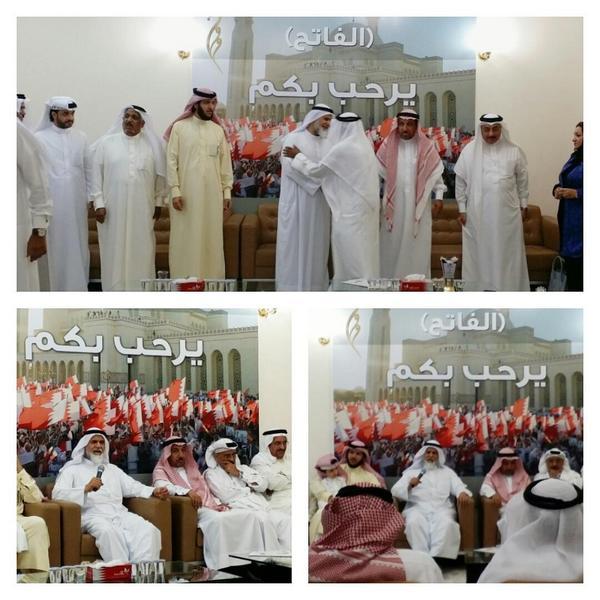 رئيس تجمع الوحدة الوطنية الشيخ د.عبداللطيف آل محمود يستقبل المهنئين بمناسبة حلول عيد الأضحى المبارك #NuaBahrain http://t.co/RAZrJwA6Lw