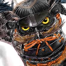 #ファオランの冒険 公式サイトよみもの「武者フクロウ」絵・文 有田満弘 よみもの中のサムネールから全体図見られます。  #ガフールの勇者たち