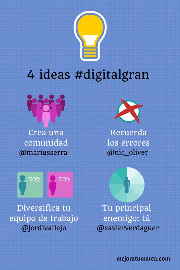 4 ideas extraídas @digitalgran para mejorar tu marca #branding #digitalgran #mejoratumarca http://t.co/dkl0vIprdU