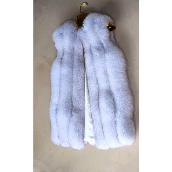 меховая жилетка фото из лисы