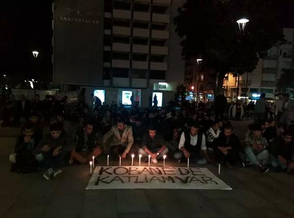 Çanakkale'de IŞİD Protestosu