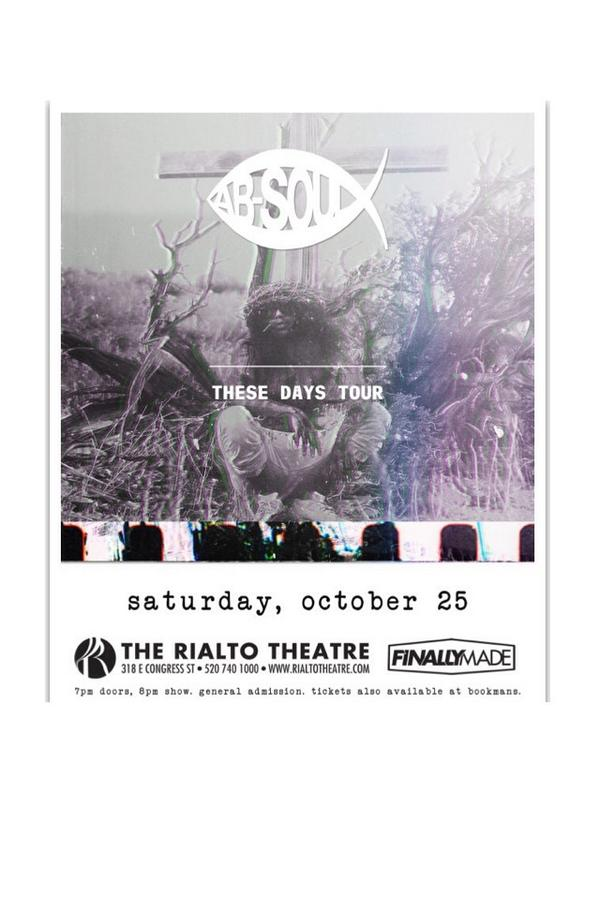 Want to win 2 free tickets to Ab Soul?Just retweet this post! Winner will be chosen Wednesday Oct 8 http://t.co/7l8oc0Ga4f