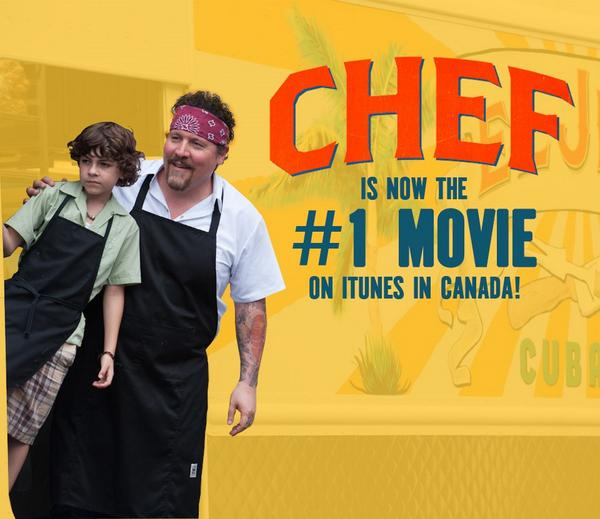 CHEF is the #1 Movie on iTunes in Canada! Don't miss out, get your copy TODAY http://t.co/6mKPsBnlpj #ChefMovie http://t.co/FjBMkIsBOQ