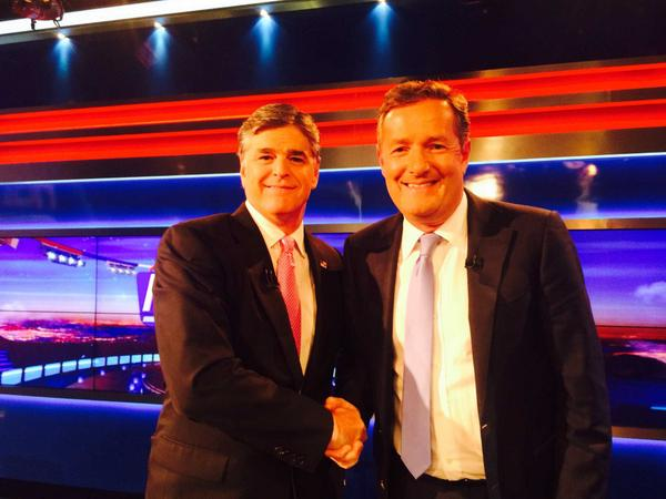 Sean Hannity conducts suck-up interview with Piers Morgan (Video)