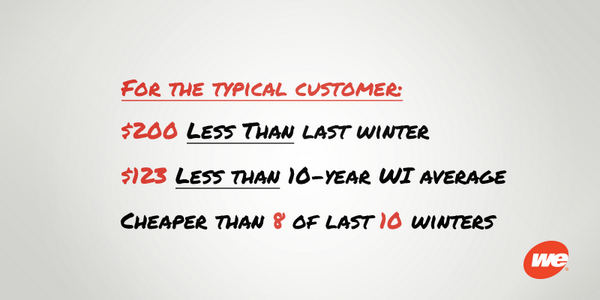 Based on a normal winter & current natural gas prices, our customers can expect some savings this winter! http://t.co/nV0q8QeiER