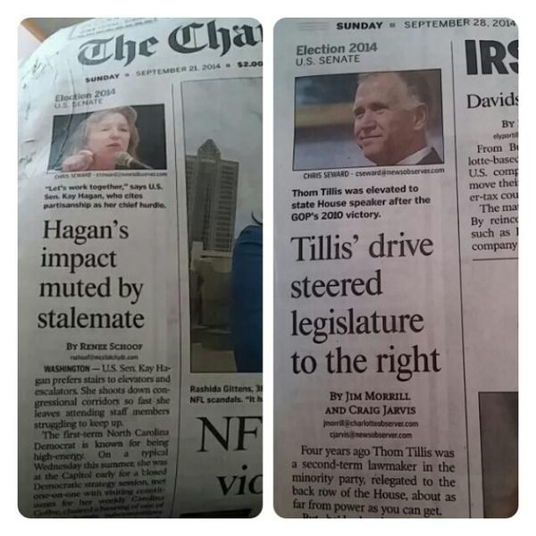 The bias of local msm explained in 2 headlines a wk apart #ncsen #ncpol #ncmedia http://t.co/ppe3AFuCE2
