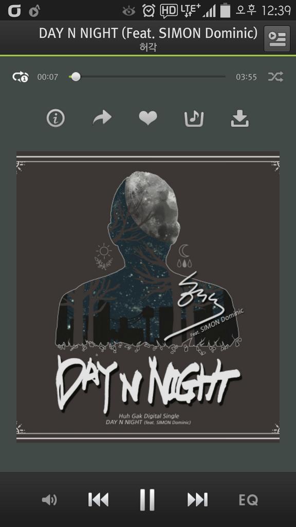 [#보미] DAY N NIGHT! 와......... 허각오빠노래너무너무조아 DAY N NIGHT  많이사랑해주세용♡  #허각 #에이핑크 #Apink http://t.co/mjBnaR590U