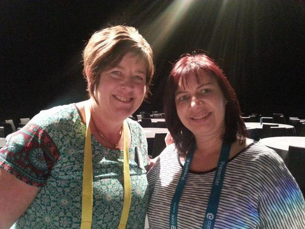 Yay! Just met @annekenn f2f @ #uLearn14 showcase! http://t.co/ZVqhVg9vKY