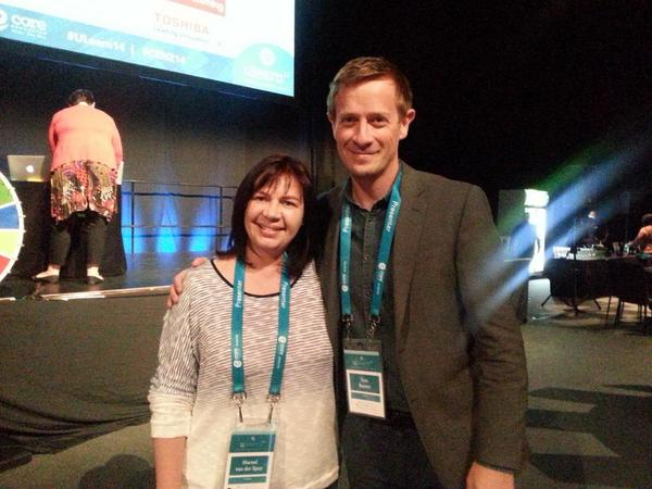 Wow! Met @tombarrett f2f at #uLearn14 showcase! Looking fw to his presentation. http://t.co/QUWzs0wrq3