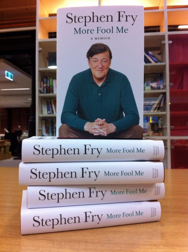 We have 5 copies of @stephenfry's @MoreFoolFry to give away! RT to enter. AU only. Winners @ 5pm AEDT. http://t.co/2DMXuFbOL2