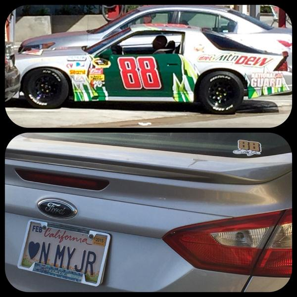@MikeDavis88 @DaleJr 2 random cars in LA. SoCal Fans Love Dale Jr too! http://t.co/kTlA7N2jlf