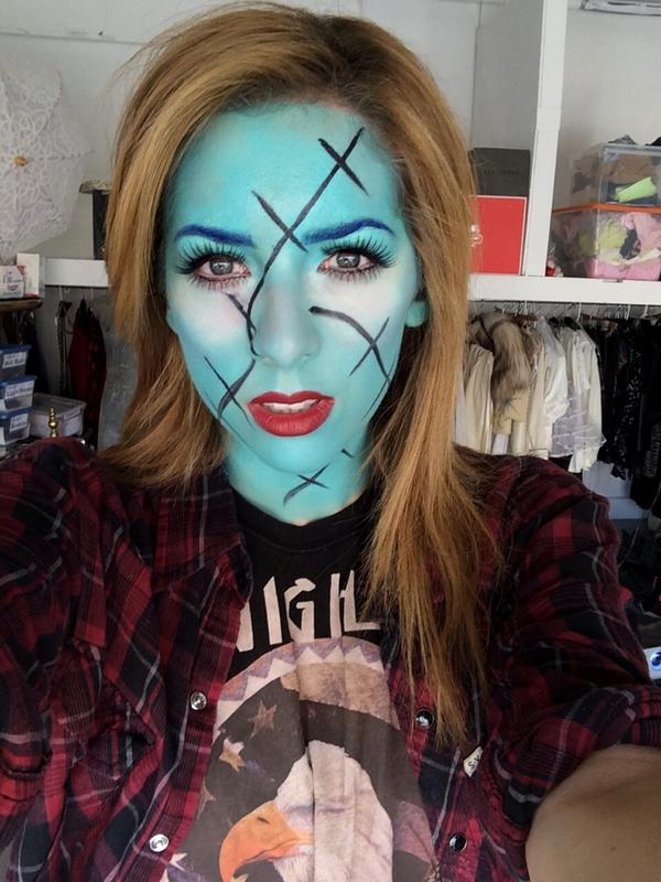 meghan camarena on twitter sally from nightmare before christmas inspired makeup tutorial up on my youtubez httptco20sspaz2fk