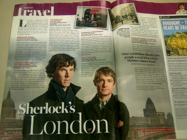 Wonderful piece in the @RadioTimes today on 'Sherlock's London'.  @Sherlockology @cumberbatchweb http://t.co/cHV8coSHrC