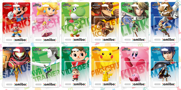 1ère vague d'amiibo: 12 amiibos