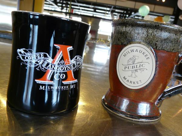 It's official! @Anodynecoffee is open at the @MKEPublicMarket ! http://t.co/jeaqEaPLpi