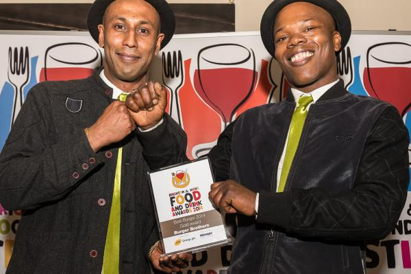 Best Burger winners @BurgerBrethren at last nights #Brighton #Foodawards2014 http://t.co/ypiszmKW7M