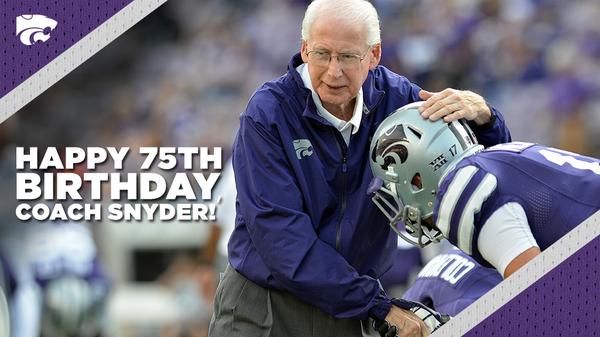 Happy 75th birthday to #KStateFB's Bill Snyder! RT to wish Coach Snyder a Happy Birthday! #KStateFamily http://t.co/wLZxri5ATl