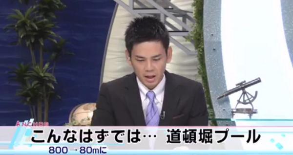 大阪ミナミの道頓堀に設置が計画されている巨大プールの長さが、800メートルから80メートルに縮小される方向であることがわかりました。http://t.co/OdMZqXxBju http://t.co/xWV5GpeHIS