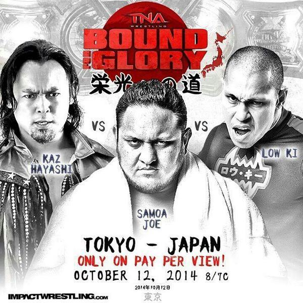 #BoundForGlory in Tokyo's Korakuen Hall.  Vs @kaz_hayashi vs @samoajoe #XDIVISION @impactwrestling vs. @W_1_official http://t.co/hqFzsTQxTM