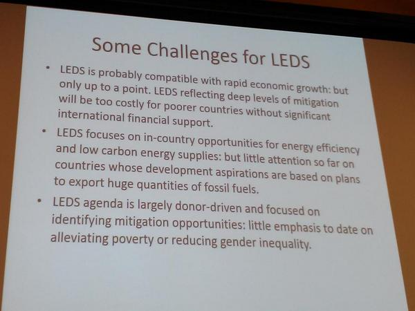 How compatible is #climate mitigation w/ rapid economic growth? @CharlieHeaps highlights challenges for LEDS. http://t.co/72zg4L5mBU