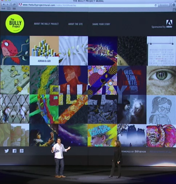 You can stand against bullying by contributing to the #TheBULLYProjectMural: http://t.co/aFfM1QEL3Y #AdobeMAX http://t.co/5TPQuOTVuu