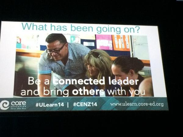 Be a connected leader and bring others with you #ULearn14 http://t.co/lU5MPHQdY7