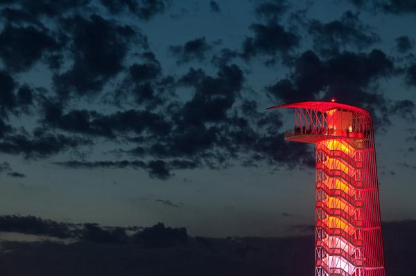 The Tower will be lit red tonight as our thoughts stay with @Jules_Bianchi and his family. #DressForJules #ForzaJules http://t.co/33urmF8RJh