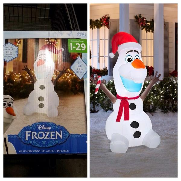 disneylifestylers on twitter new frozen olaf inflatable christmas decoration from walmart and lowes httptcosdlwvt9uct