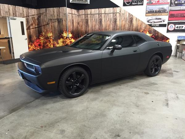 Pdx Wraps On Twitter Dodge Challenger With A Full Matte Black